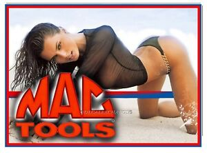 Mac Tools Sticker Decal Ocean Pinup Girl Mechanic Tool Box Sign Tin Chest Usa