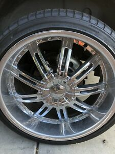 22 Rims And Tires Set Of 5