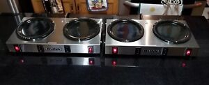 Qty 2 Bunn Wx 2 Dual Burner Coffee Pot Warmer In Great Working Order Stainless