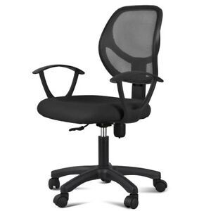 Mesh Office Chair Ergonomic Computer Desk Chair Mid Back Task Chair With Arms