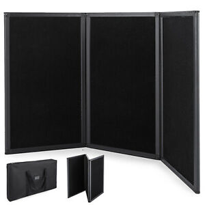54x30 3 Panel Trade Show Display Tabletop Folding Presentation Black noheader