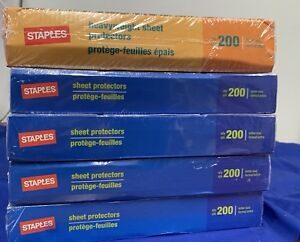 1000 Staples Clear Sheet Page Protectors Plastic Office Document Sl