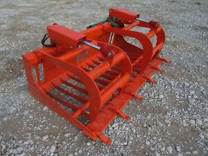Kubota Compact Tractor Attachment 66 Rock Bucket Tooth Grapple Ship 149