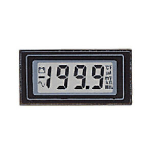 Lascar Dpm 400 3 1 2 digit Lcd Panel Voltmeter W 200 Mv Dc Snap in