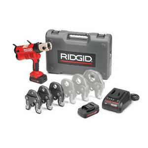 Ridgid 43353 Rp 340 Battery Press Tool Kit W propress Jaws 1 2 1