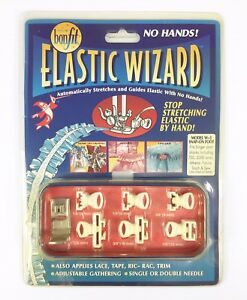 Bonfit Elastic Wizard Sewing Machine Attachments Guide Clear Foot FAST FREE SHIP