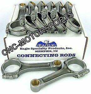 Sir6000sblw Sb Chevy 283 327 Eagle 5140 Steel I Beam Connecting Rods 6 0 Bushed