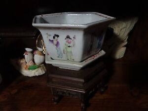 Antique Chinese Porcelain Plant Pot Marked