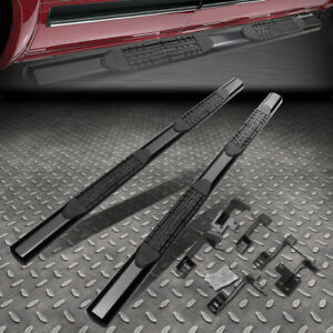 For 19 20 Ram Truck 1500 Crew Cab 4 Oval Tube Running Board Nerf Step Bar Black