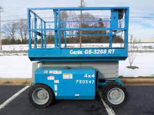 2007 Genie Gs3268rt 32 Rough Terrain Scissor Lift Manlift 32ft Platform Lift