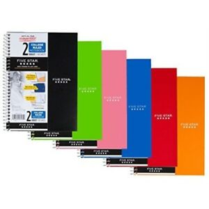 Mead Fba_6180 Five Star Spiral Notebook College Ruled 2 Subject