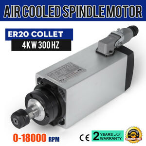 Cnc 4kw Air Cooled Spindle Motor Er20 Air Cooled Impact Structure High Speed