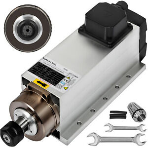 Cnc 4kw Air Cooled Spindle Motor Er20 Impact Structure W square Edge 220v 15a