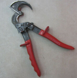 Klein Tools 63060 Ratcheting Cable Cutter Red Handle Made In Germany