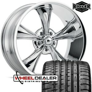 18 Chrome Ridler 695 Wheels Tires Chevelle Malibu 1968 1969 1970 1971 1972