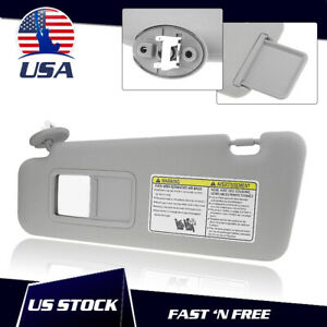 Gray Sun Visor For 2007 2011 Toyota Camry Driver Side With Sunroof And Light