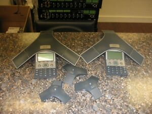 Lot Of 2 Cisco Cp 7937g Unified Voip Conference Station Phone W 3 Mics
