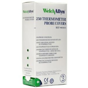 Welch Allyn Suretemp Thermometer Probe Covers 250 box Ref 05031 New 2 Pack