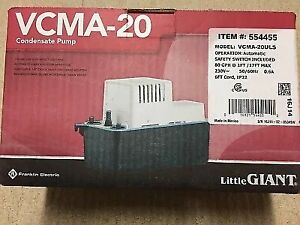Little Giant Vcma 20uls Condensate Pump 230 Volts 17 Ft Max Lift W safety Sw