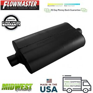 52555 Flowmaster Super 50 Muffler 2 5 Center Inlet 2 5 Center Outlet