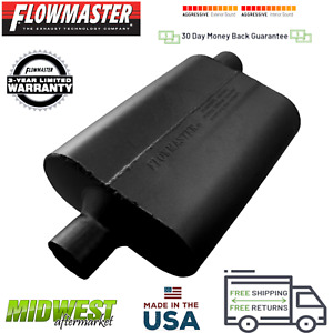 42442 Flowmaster 40 Series Muffler 2 25 Center Inlet 2 25 Offset Outlet