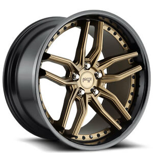 20 Niche Wheels M195 Methos Matte Bronze Face Rims Fs