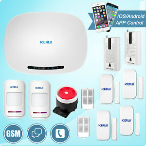 Wireless Lcd Touch Keypad Gsm Sms Home House Alarm System Security Burglar Lot