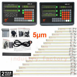 2 3 Axis Dro Digital Readout Display 5 m Ttl Linear Scale For Bridgeport Milling