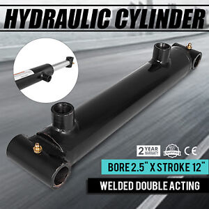 Hydraulic Cylinder 2 5 Bore 12 Stroke Double Acting Sae 6 Suitable Equipment