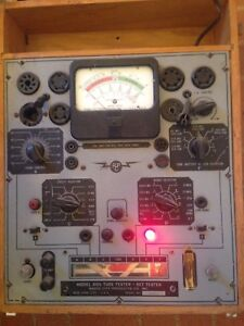 Radio City Products rcp Model 805 Tube Tester Set Tester W Manual Untested