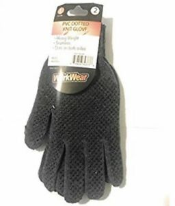2 Pair Wurkwear Pvc Dotted Knitted Work Gloves