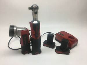 Snap On Tool 14 4 V Lithium 1 4 Ratchet Battery Charger Light Led Kit Set Wrench