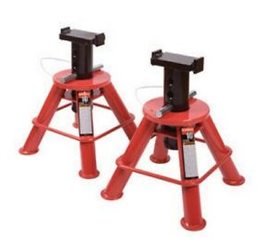 10 Ton Low Height Pin Type Jack Stands Pair Suu 1210 Brand New