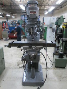 Bridgeport 42 table 2hp Series 1 Variable Speed Milling Machine W servo Feed