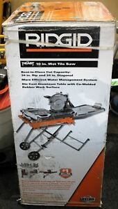 Ridgid 10 Wet Tile Saw W Stand R4092