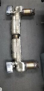 Porsche 997 Turbo Factory Exhaust Muffler Assembly With Converters New