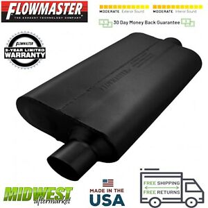 942551 Flowmaster 50 Delta Flow Muffler 2 5 Offset Inlet 2 5 Center Outlet