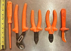 Sears 5 piece Electrician s Insulated Plier Screwdriver Knife Hand Tool Set