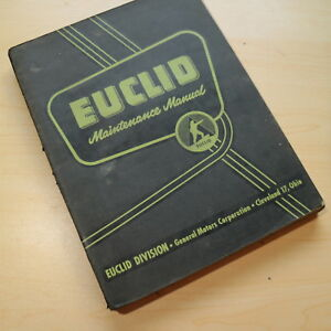 Euclid 1 ud Rear Dump Truck Service Maintenance Manual Owner Repair Shop Owner
