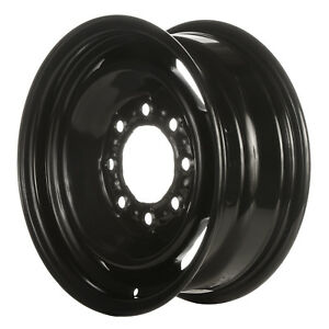 16 X 6 5 4 Slot Refurbished Oem Chevrolet Steel Wheel Black Full Face 01619
