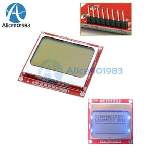 5pcs 84x48 Lcd Module Blue Backlight Adapter Pcb Nokia 5110 Lcd For Arduino