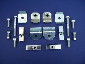57 Chevy Accessory Front Rear Bumper Guard Mounting Hardware Kit 1957 New