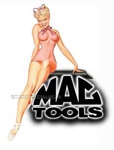 Mac Tools Sticker Decal Happy Girl Sexy Girl Mechanic Toolbox Sign Tin Chest Usa