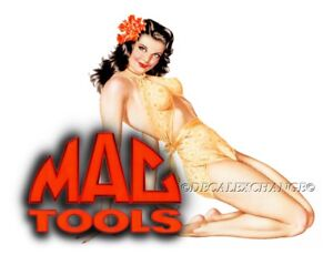 Mac Tools Sticker Decal Hula Sexy Pinup Girl Mechanic Toolbox Sign Tin Chest Usa