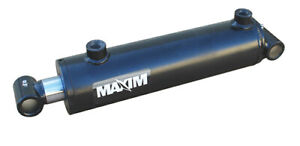 New Maxim Welded Crosstubes Cylinder 6 Bore 12 Stroke 3000 Psi 3 Rod 3 4 Npt