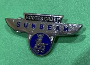 Sunbeam Rootescroup Rare Vintage Old Lapel Pin Hat Tie 50s 60s 70s Tiger Alpine