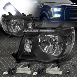 Black Housing Headlight Clear Corner 6000k White Led System For 05 11 Tacoma