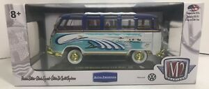 M2 Auto thentics 1960 Vw Microbus Deluxe Usa Model Chase 500 Pieces 1 24 Scale