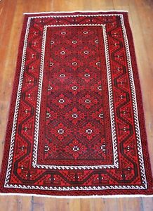 Old Vintage Tribal Balouch Persian Rug 3 8 X 5 10 Fine Balouchi Weaving