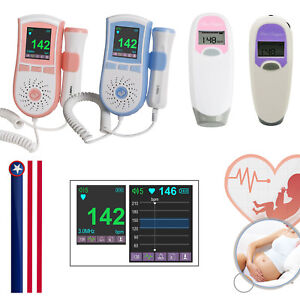 Usa Fetal Doppler Pr Heart Lcd Beat Pocket Prenatal Baby Monitor 2 5mhz 3mhz